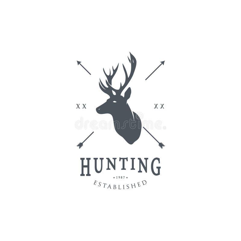 狩猎商标模板 库存例证