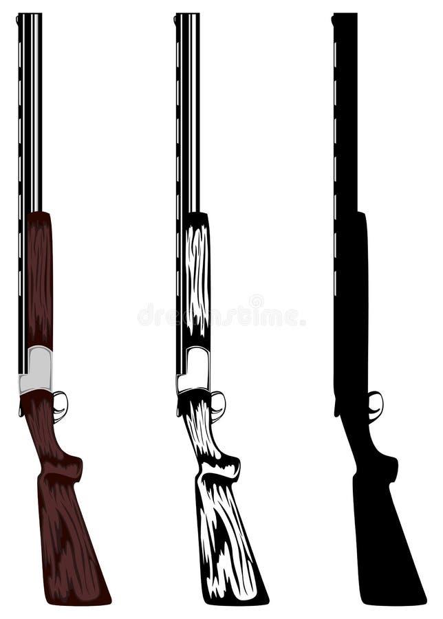 狩猎步枪 向量例证