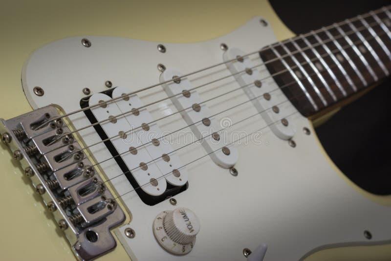 独奏电主角吉他,摇滚音乐概念 免版税库存照片