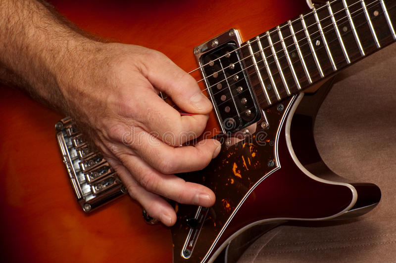 独奏的吉他 免版税库存图片