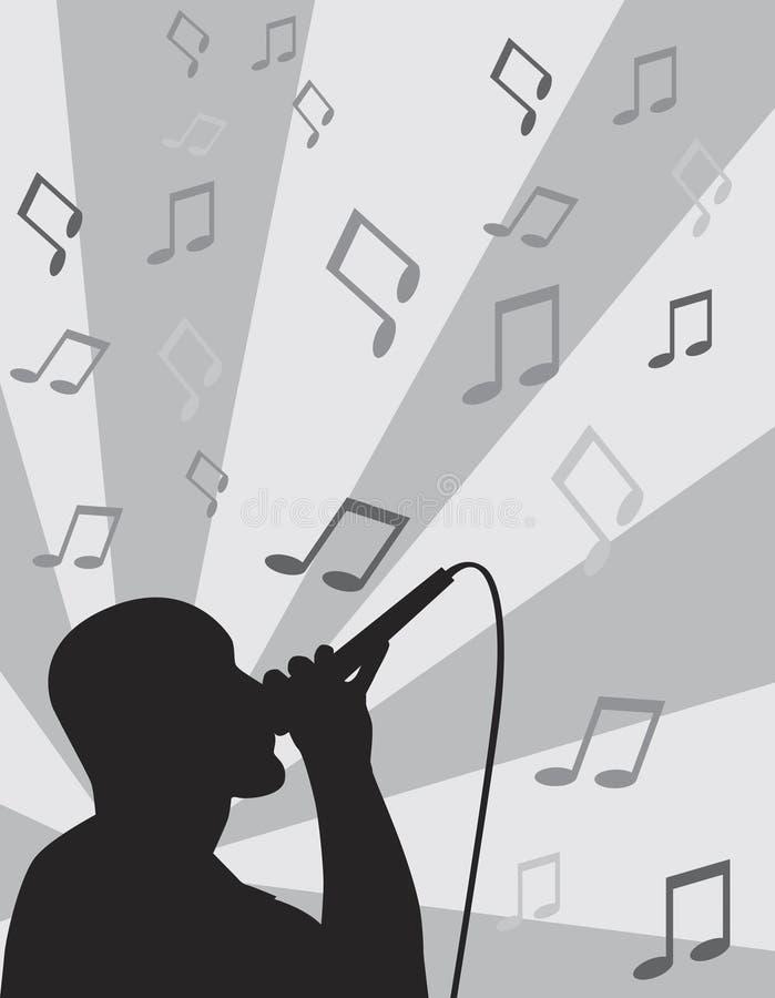独奏的歌唱家 皇族释放例证