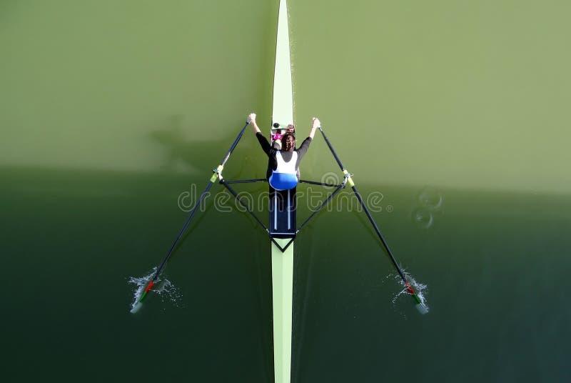 独木舟划船体育 库存图片