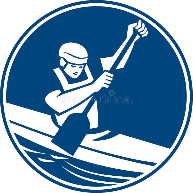 独木舟障碍滑雪圈子象 库存例证