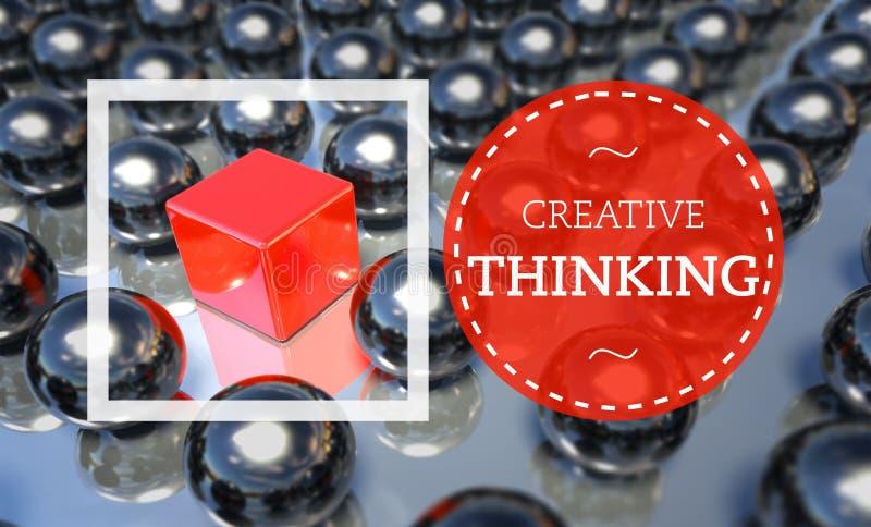 独特创造性思为的事务,概念 皇族释放例证