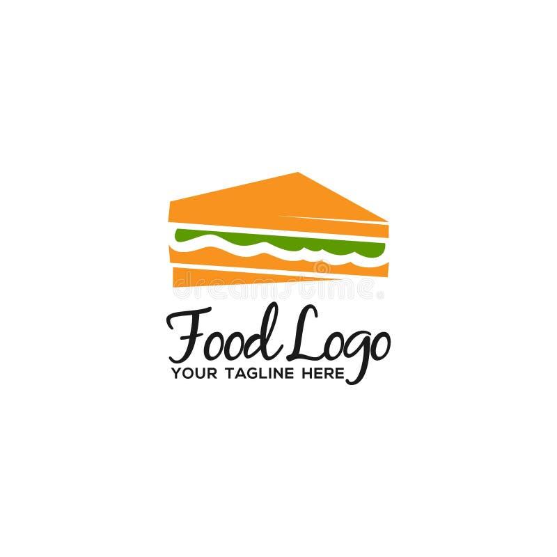 独特和原始的食物商标模板 向量例证