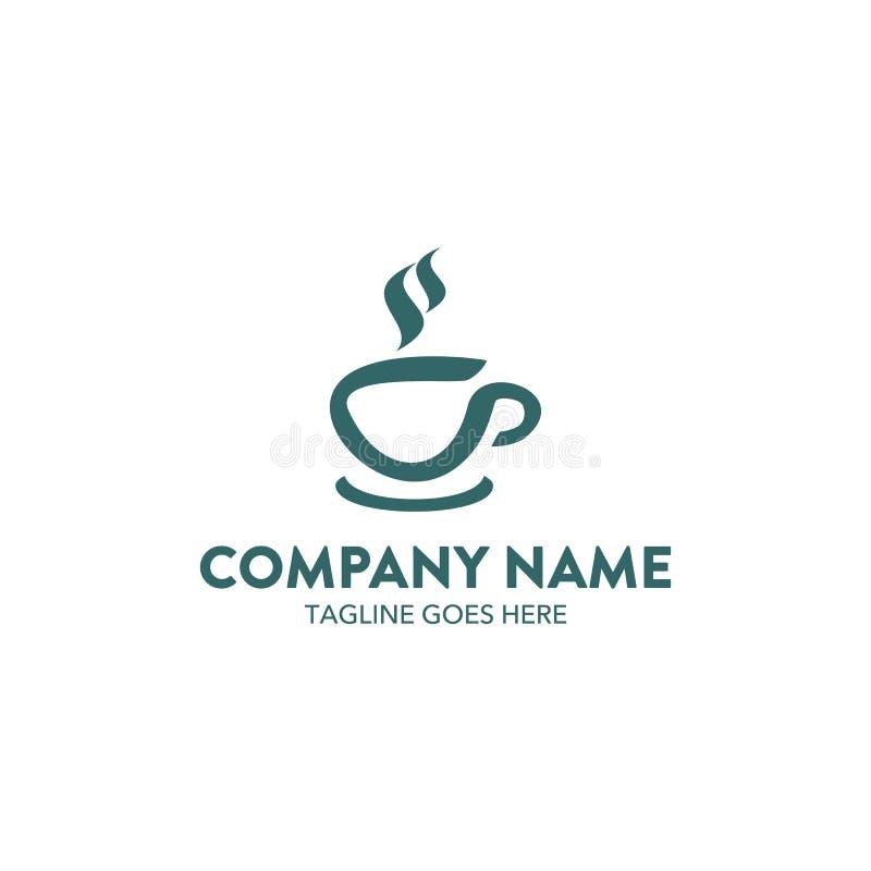 独特的咖啡咖啡馆商标模板 向量 编辑可能 皇族释放例证