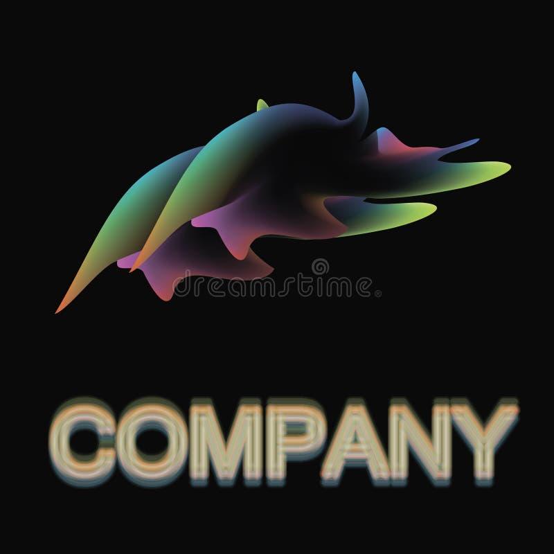 独特的商标:名字公司 免版税库存照片