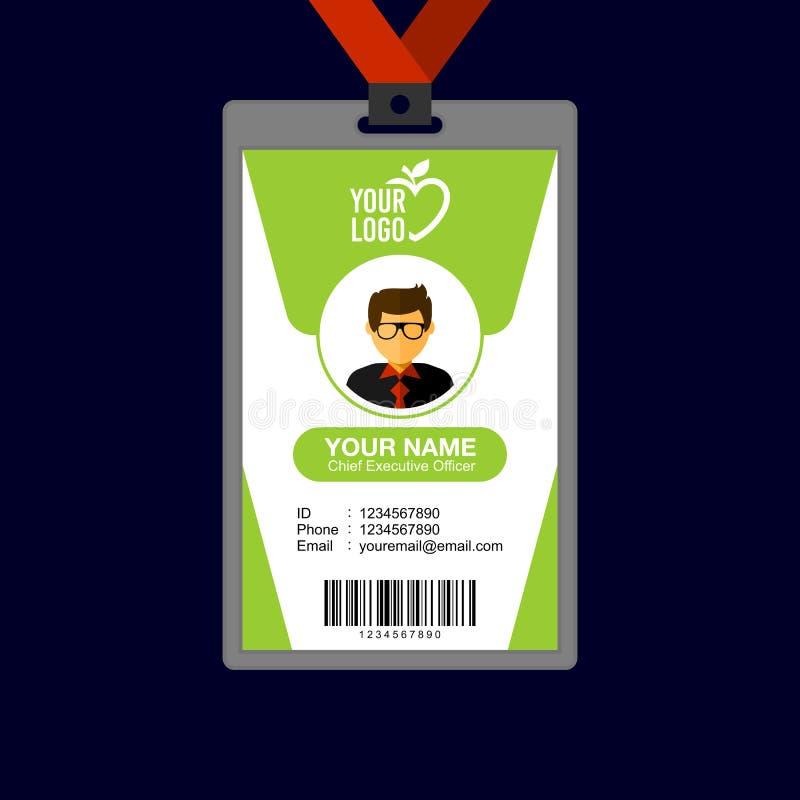 独特的学生证卡片设计模板收藏 库存例证