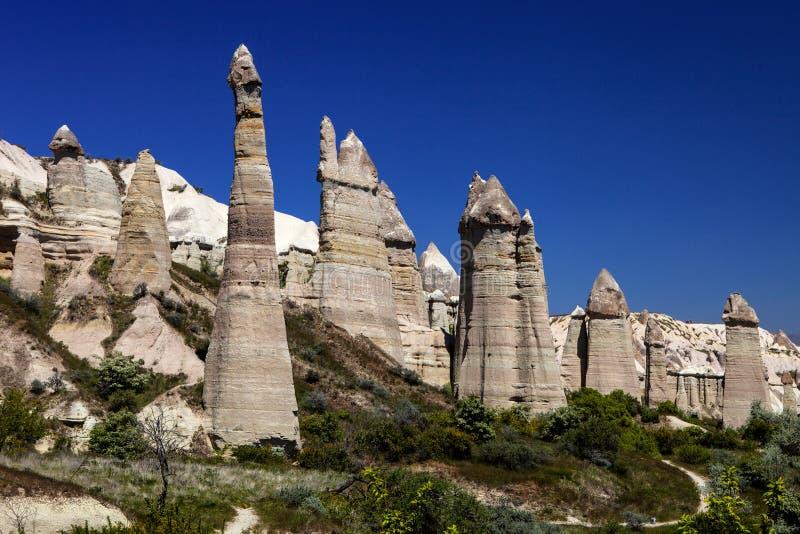 独特的岩层、Kapadokia和土耳其 免版税库存图片