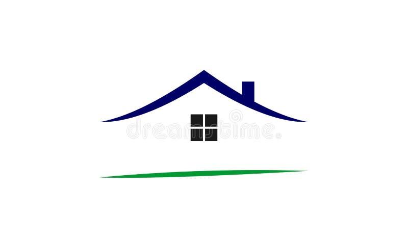 独特的房子商标设计 库存例证