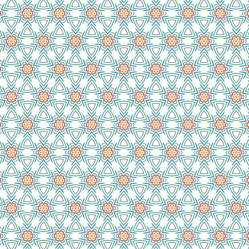 独特的抽象五颜六色的叶子花卉花圈子样式纹理背景 向量例证