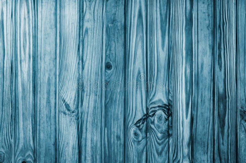 独特的木杉木背景或纹理 蓝色的垂直线 库存图片