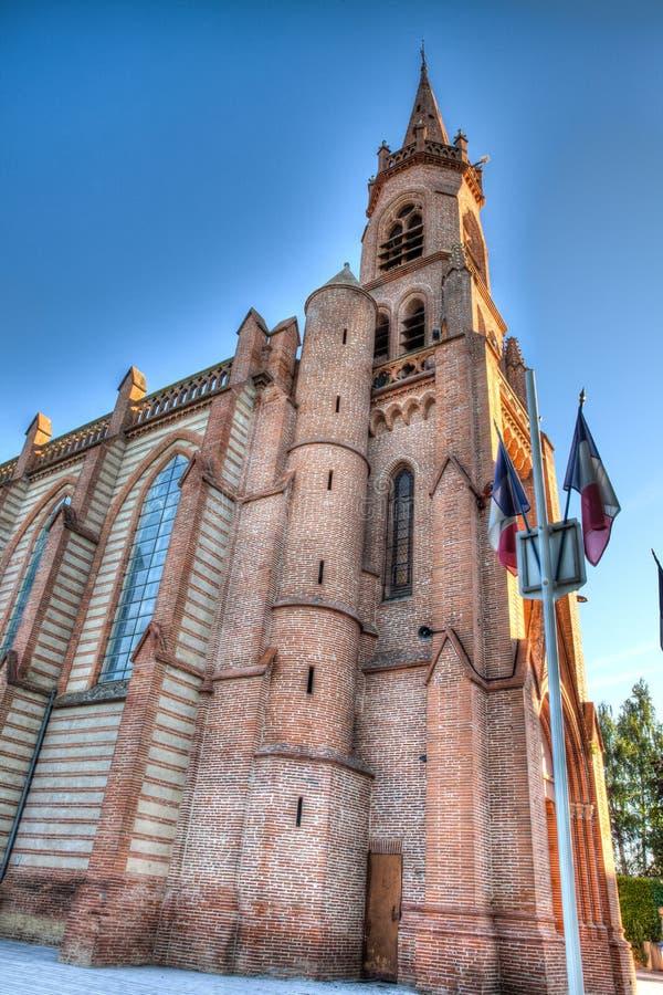 独特的老教会在图卢兹法国外面 免版税库存图片