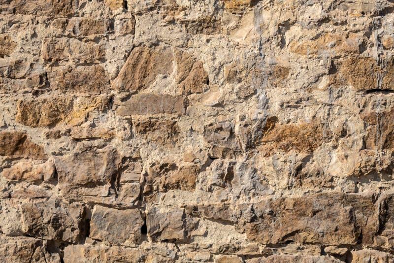独特的老石墙纹理 库存照片