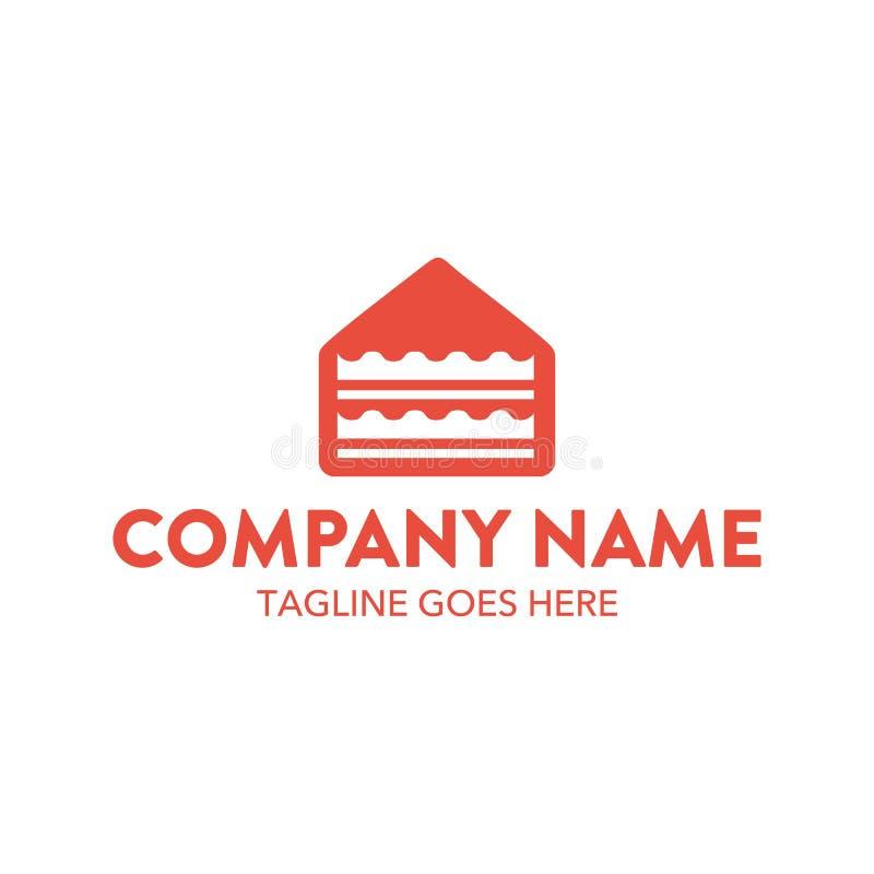 独特的蛋糕和曲奇饼商标模板 向量 编辑可能 皇族释放例证
