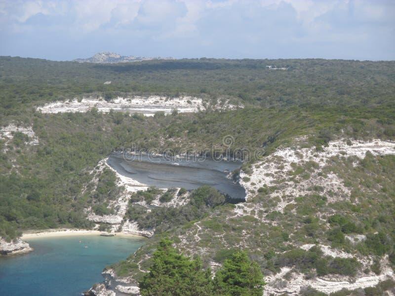 独特的风景在可西嘉岛 库存照片
