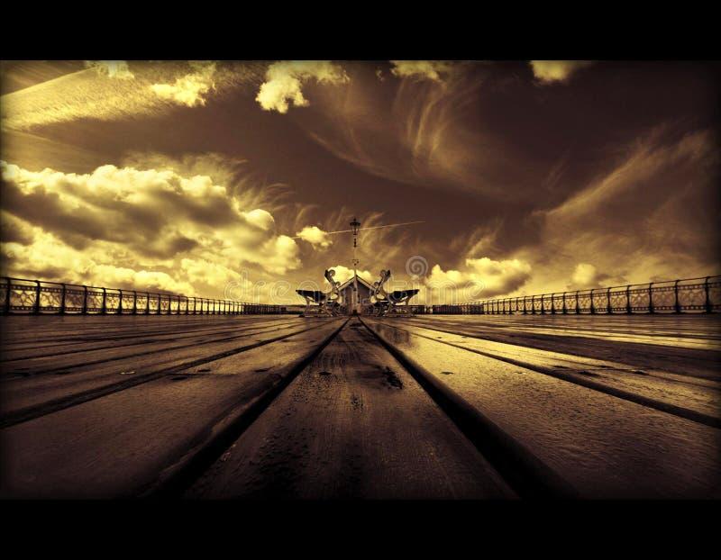 独特的风雨如磐的背景的抽象艺术性的3d例证 库存图片