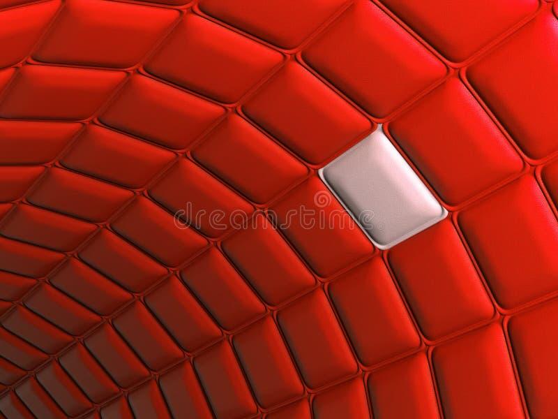 独特:与独特的segmen的红色皮革样式曲拱形状 库存例证
