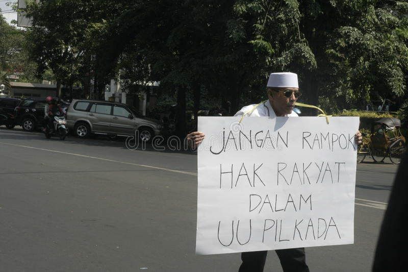 独白行动抗议地方选举 免版税图库摄影