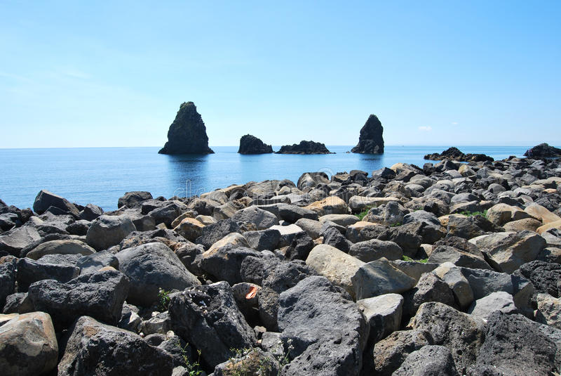 独眼巨人海岛-西西里岛 免版税库存图片