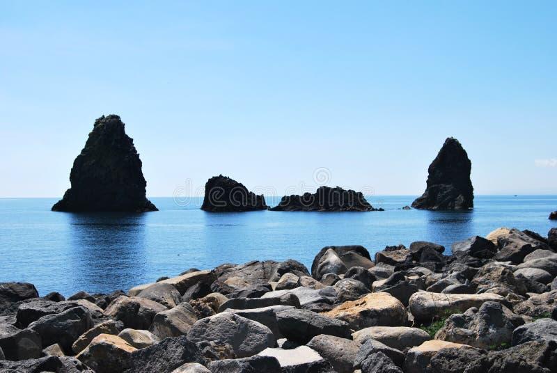 独眼巨人海岛-西西里岛 图库摄影