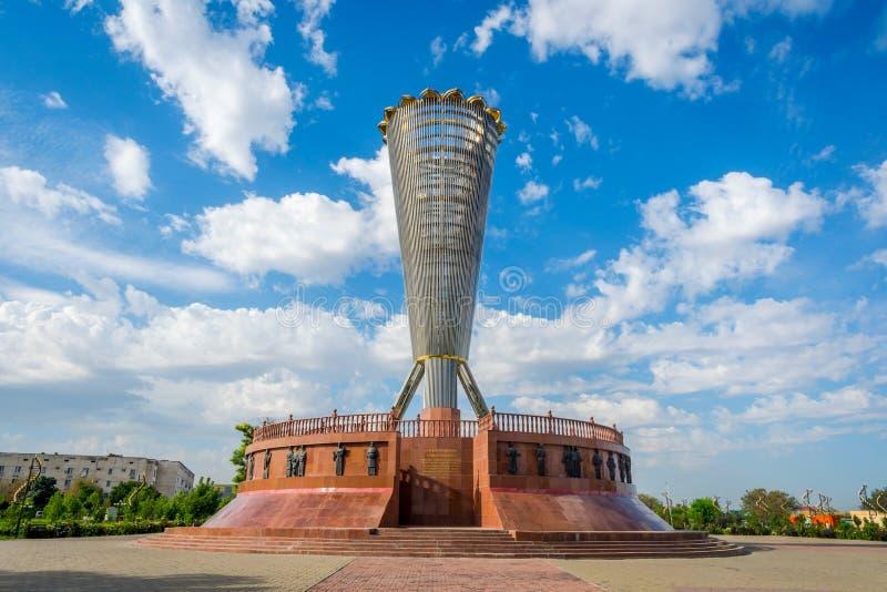 独立公园,奇姆肯特,哈萨克斯坦 图库摄影