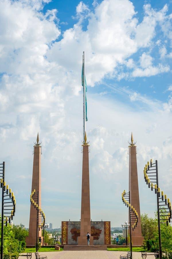 独立公园,奇姆肯特,哈萨克斯坦 库存照片