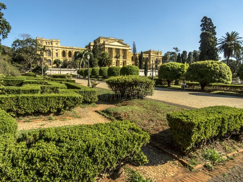 独立圣保罗大学的公园和圣保罗人博物馆 免版税图库摄影
