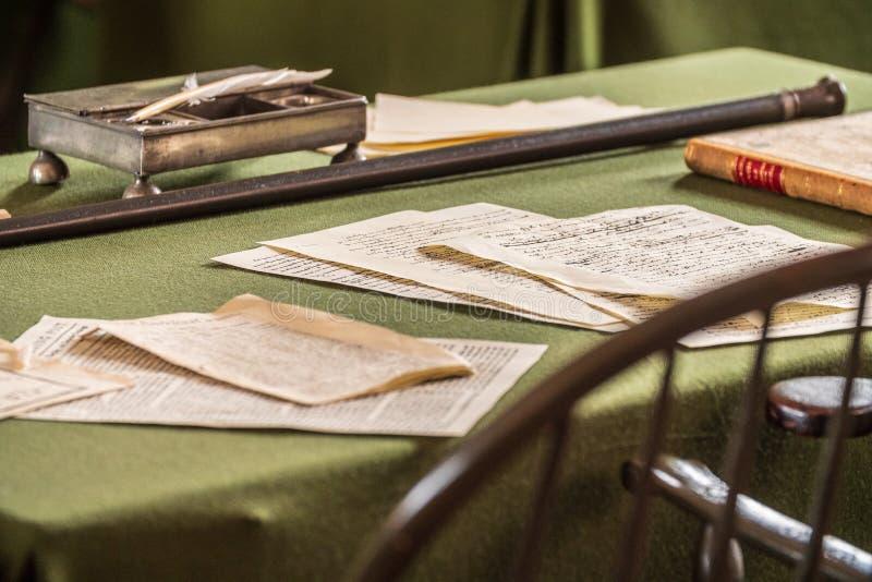 独立宣言和U的美国独立纪念馆 S 宪法签了字 免版税库存图片