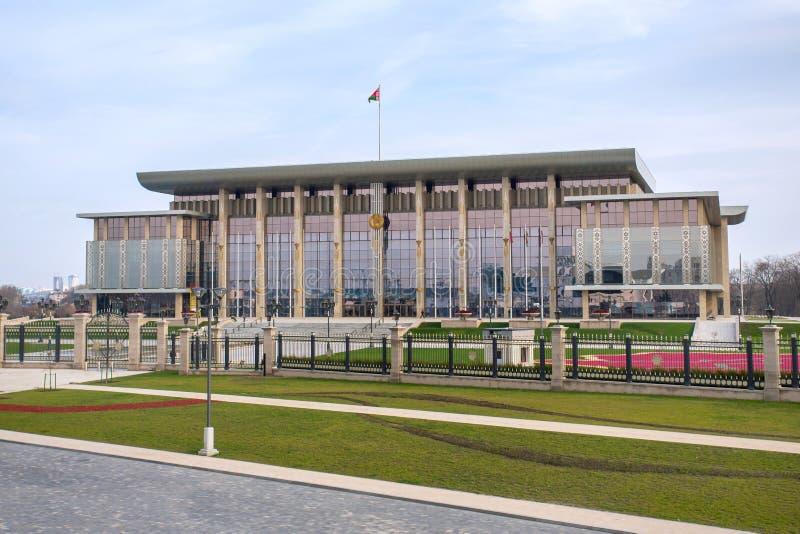 独立宫殿在米斯克,白俄罗斯 免版税库存照片