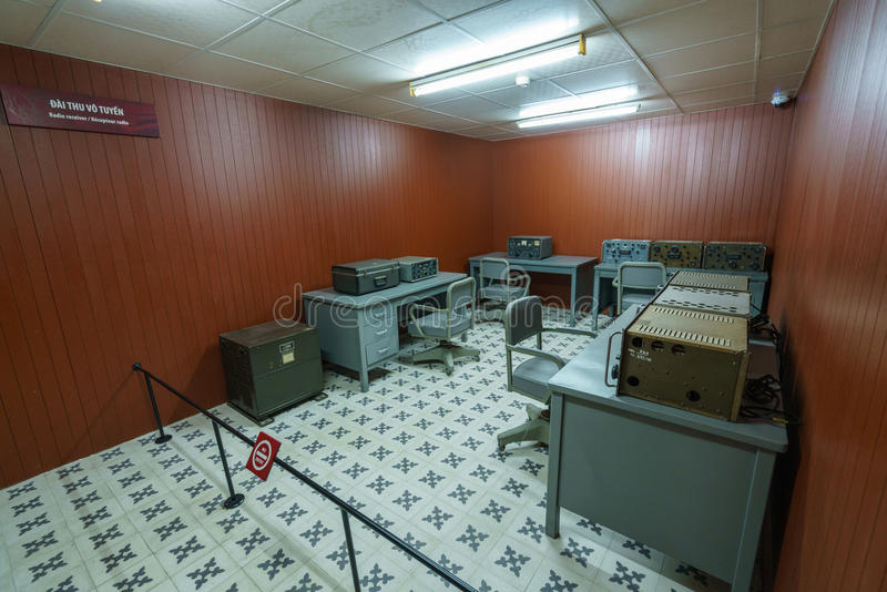 独立宫殿的通信室 库存图片