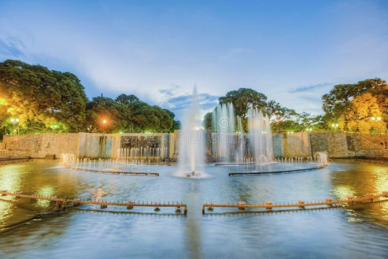 独立广场在Mendoza市,阿根廷 库存图片