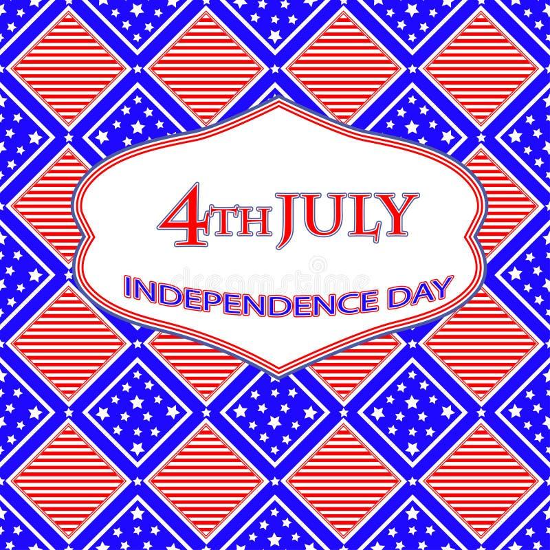 独立日卡片 向量例证