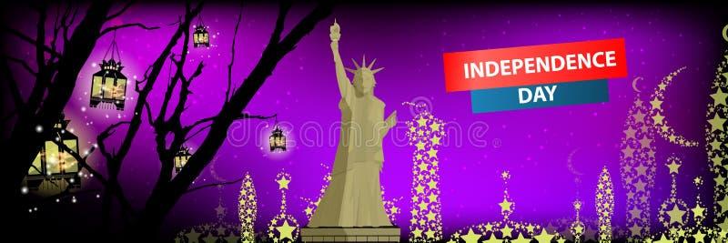 独立日美国,传染媒介 设计例证写您 向量例证