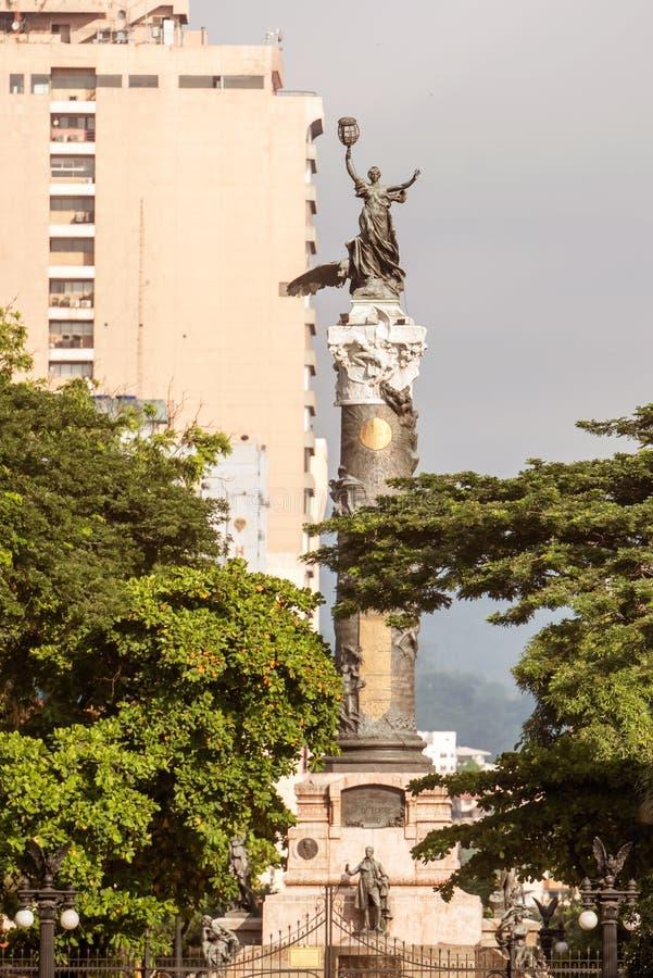 独立纪念碑在瓜亚基尔厄瓜多尔 免版税库存图片