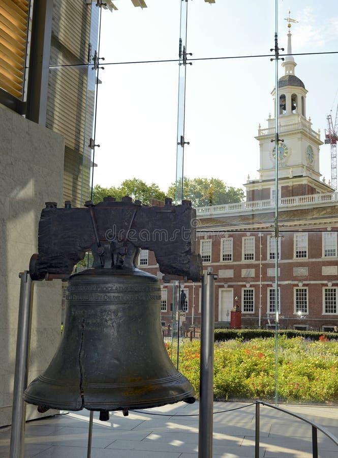 独立钟在费城,宾夕法尼亚 免版税库存图片