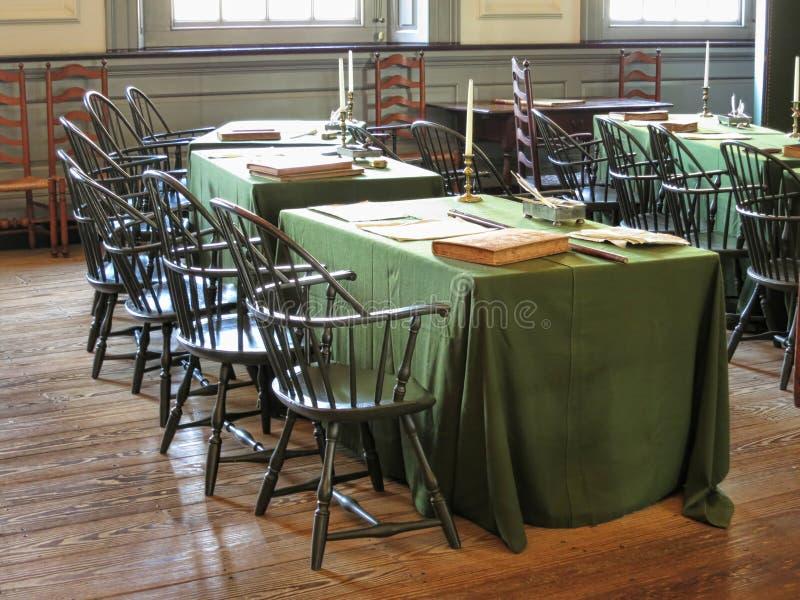独立霍尔在费城宾夕法尼亚 图库摄影
