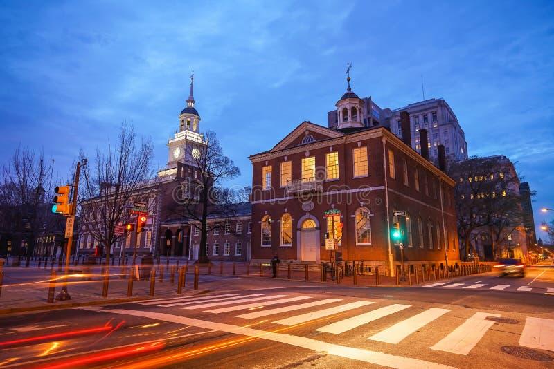独立霍尔在费城,宾夕法尼亚 免版税库存图片
