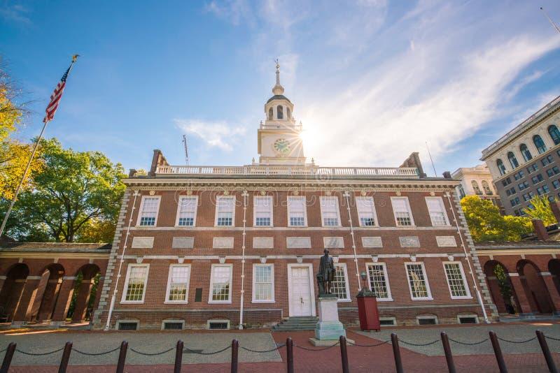 独立霍尔在费城,宾夕法尼亚 库存照片
