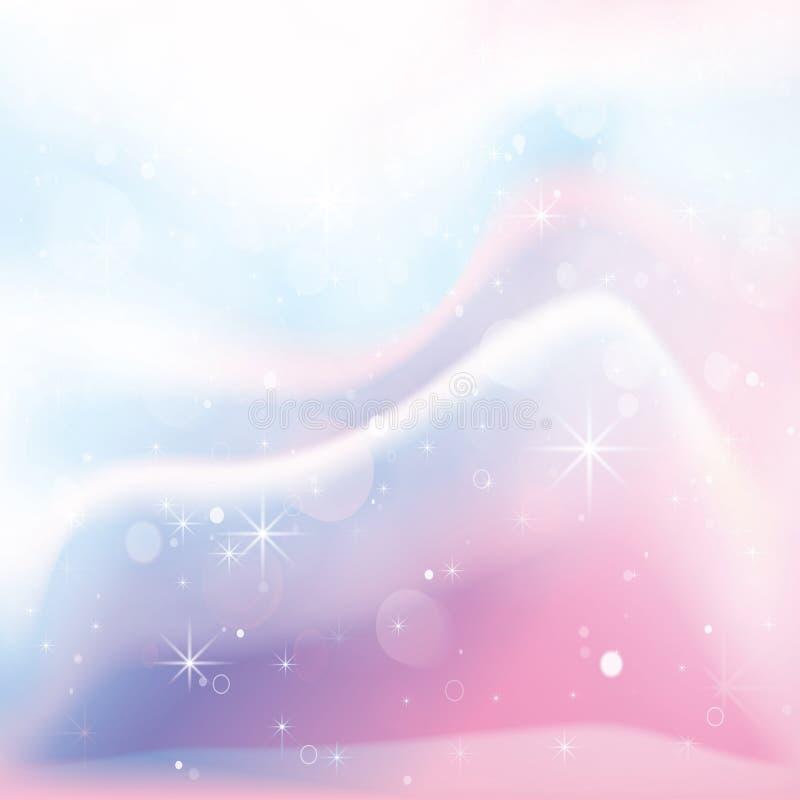 独角兽全息照相的颜色梯度背景 向量例证