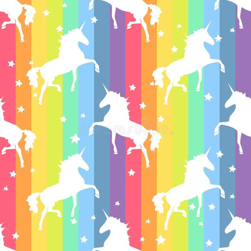独角兽 彩虹样式 皇族释放例证
