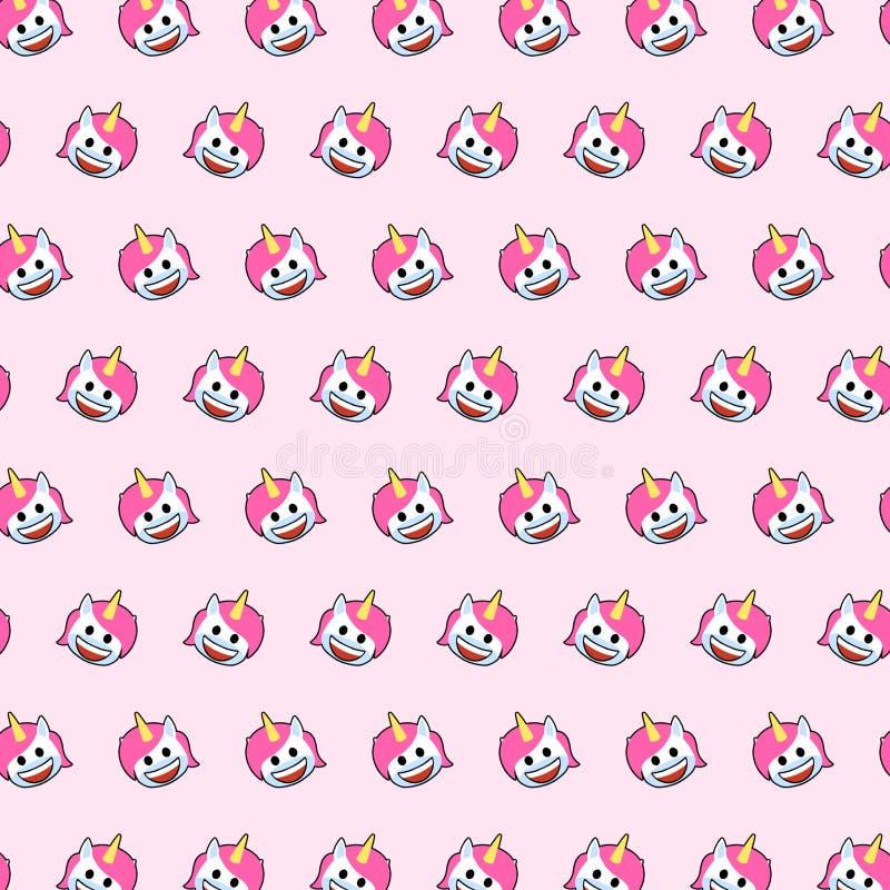 独角兽- emoji样式79 库存例证