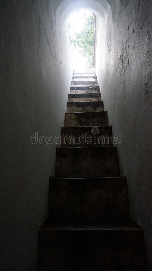 狭窄的台阶01 库存图片