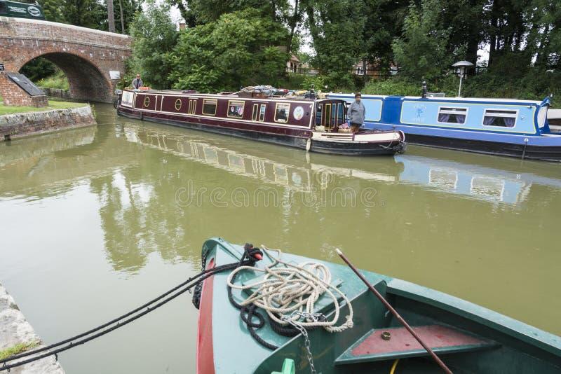 狭窄的小船Pewsey 免版税库存图片