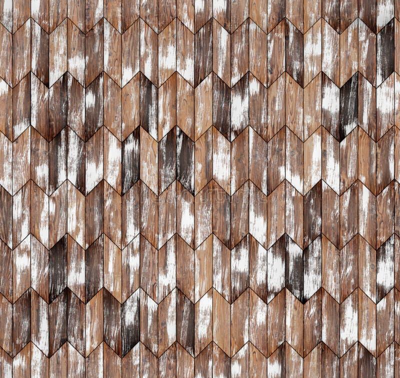 狭窄的V形臂章自然落叶松属木条地板无缝的地板纹理 库存图片