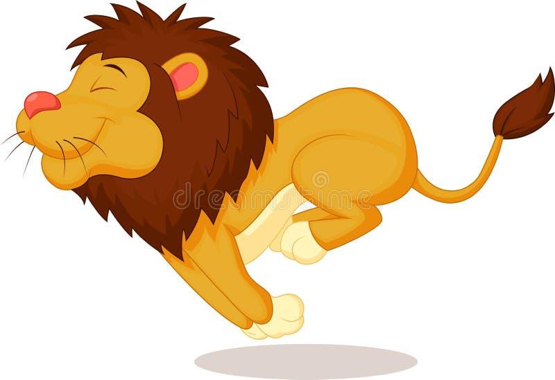 狮子动画片赛跑 向量例证