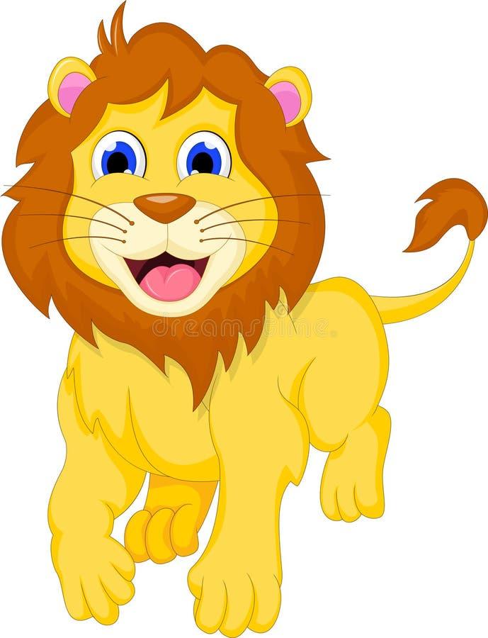 狮子动画片赛跑 皇族释放例证