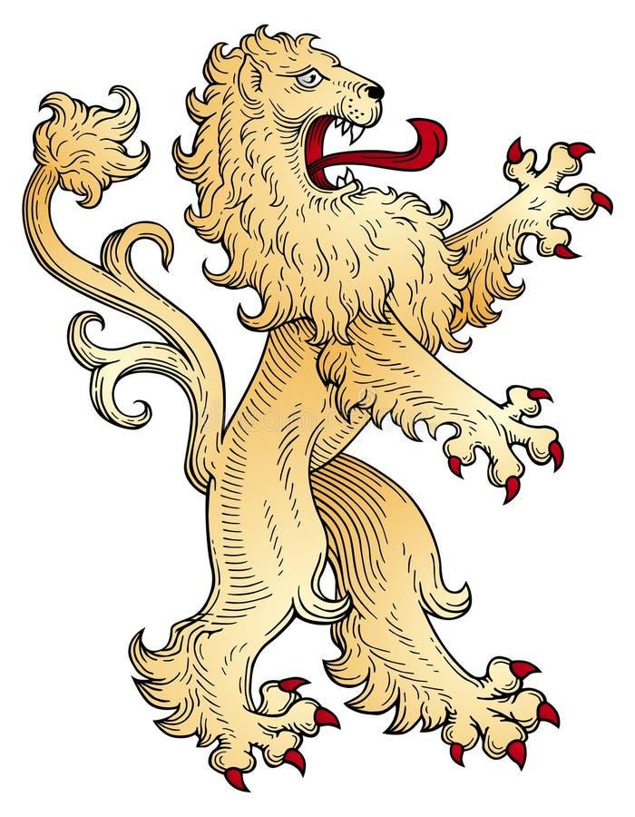 狮子向量 皇族释放例证