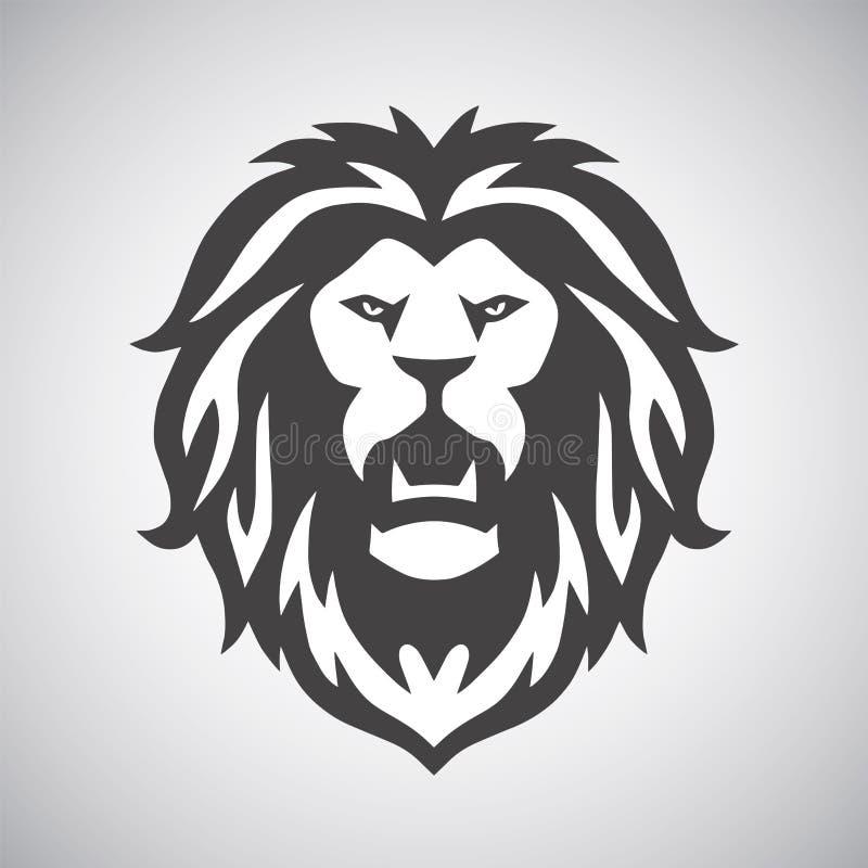 狮子吼声商标 库存例证