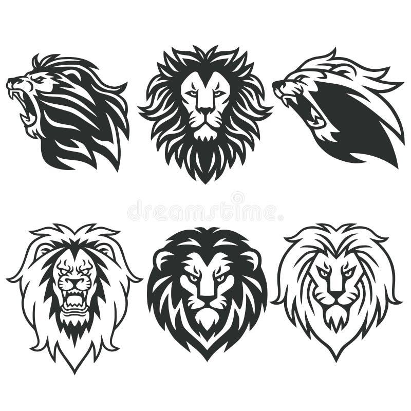 狮子商标包裹 优质设计汇集集合 也corel凹道例证向量 皇族释放例证